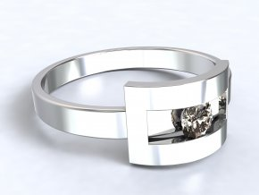 Stříbrný prsten Šárka