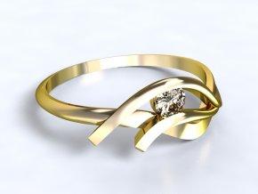 Zlatý prsten s kamenem 1301101