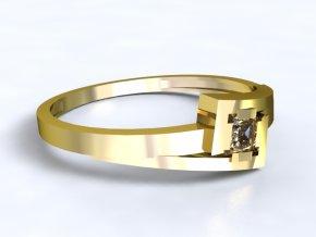 Zlatý prsten čtverec 1301201