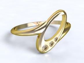 Zlatý prsten s kamenem 1301301