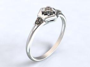 Au 585/1000 Zlatý prsten s kameny1301601