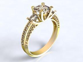 Zlatý prsten s kameny 1302201