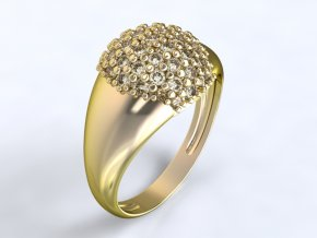 Zlatý prsten s kameny 1302401