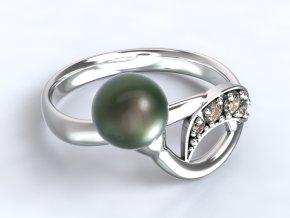Zlatý prsten poupě s perlou 1302501