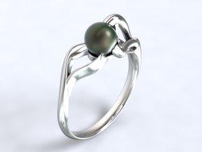 Au585/1000 Zlatý prsten s perlou