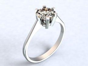 Stříbrný prsten korunka