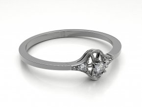 Zlatý zásnubní prsten 2300101