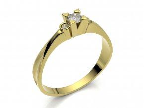 Zlatý zásnubní prsten 2300401