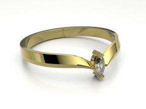 Zlatý zásnubní prsten do soupravy se snubním 2300501