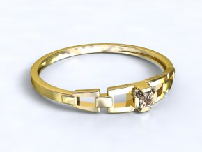 Zlatý prsten s kamenem 2300701