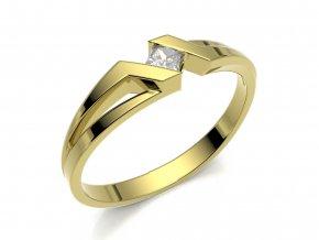 Zlatý zásnubní prsten 2301001
