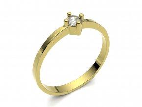 Zlatý zásnubní prsten 2301301