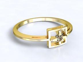 Zlatý prsten čtvereček 2301501