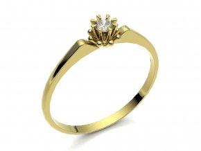 Zlatý zásnubní prsten 2301901
