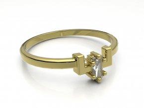 Zlatý zásnubní prsten do soupravy se snubním 2302101