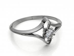 Zlatý zásnubní prsten do soupravy se snubním 2302301