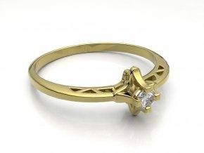 Zlatý zásnubní prsten do soupravy se snubním 2302701