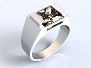 Ag925 prsten čtverec dlouhé krapny