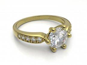 Zlatý zásnubní prsten 2303201
