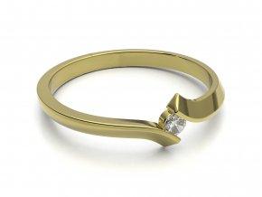 Zlatý zásnubní prsten 2303601
