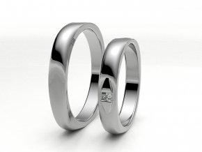 Snubní prsteny bílé zlato 3300301