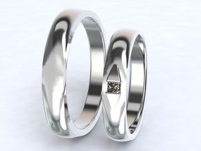 Bílé Au585 snubní prsteny 3300301