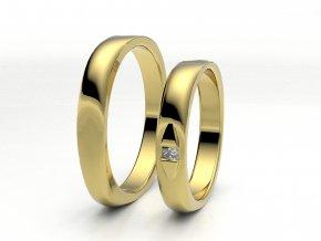 Snubní prsteny žluté zlato 3300302