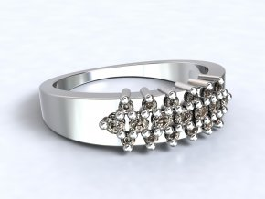 Stříbrný prsten ježek 312601