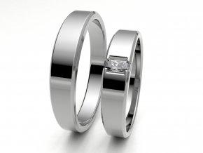 Snubní prsteny bílé zlato 3300401