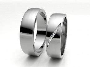 Snubní prsteny bílé zlato 3300701