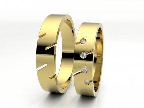 Snubní prsteny žluté zlato 3300802
