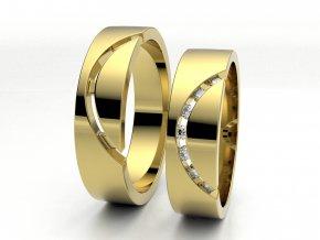 Snubní prsteny žluté zlato 3300902