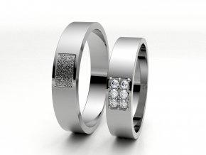 Snubní prsteny bílé zlato 3301001
