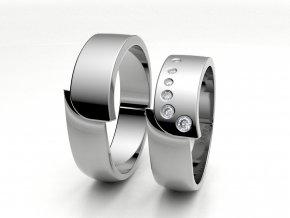 Snubní prsteny bílé zlato 3301201
