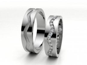 Snubní prsteny bílé zlato 3301301
