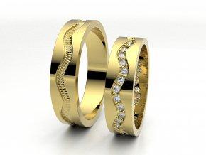 Snubní prsteny žluté zlato 3301302