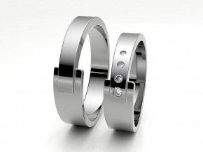 Snubní prsteny bílé zlato 3301401