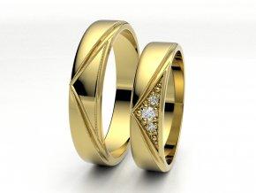 Snubní prsteny žluté zlato 3301602