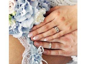 Bílé Au585 snubní prsteny 3302201