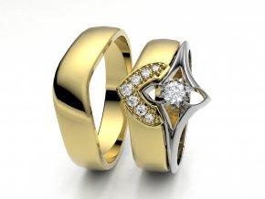 Žluté Au585 snubní prsteny 3302302