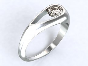Stříbrný prsten kapka 313401
