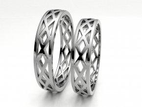 Bílé Au585 snubní prsteny 3303301
