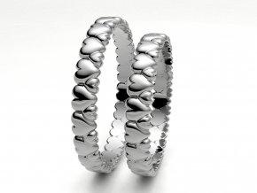 Bílé Au585 snubní prsteny 3303401