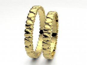 Žluté Au585 snubní prsteny 3303402