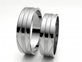 Bílé Au585 snubní prsteny 3303601
