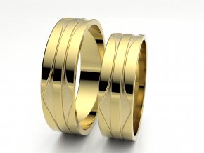 Snubní prsteny žluté zlato 3303602