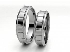 Bílé Au585 snubní prsteny 3303801