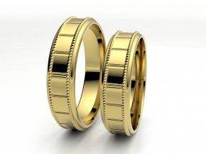 Žluté Au585 snubní prsteny 3303802