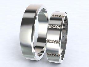 Bílé Au585 snubní prsteny 3304101