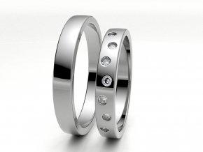 Snubní prsteny bílé zlato 3304201